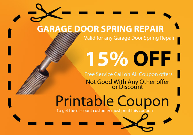Garage broken spring repair
